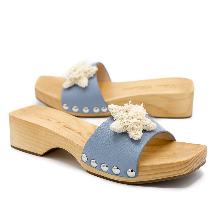 blue womens clogs